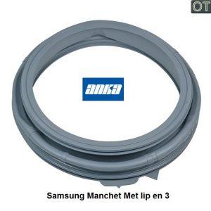 DC64-02888A Samsung Manchet met lip en 3 gaten verkrijgbaar bij Anka