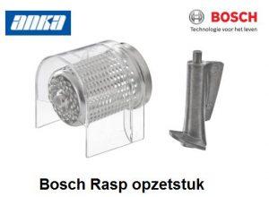 Bosch Rasp voor vleesmolen,Bosch Rasp voor Gehaktmolen, Bosch Rasp opzetstuk voor gehaktmolen Bosch Accessoires Vleesmolen,Bosch Gehaktmolen Rasp  aluminium, 00463718 - MUZ8RV1