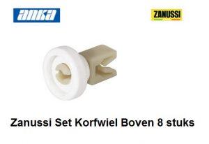 Zanussi 50269970005 Korfwiel Boven (set 8 stuks)