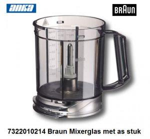 7322010214 Braun Mixerglas met as stuk-