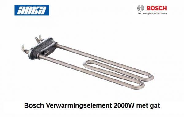 Bosch Verwarmingselement 2000W met gat,Bosch Verwarmingselement 2000W  Wasmachine,Bosch wasmachine onderdelen, Geschikt voor o.a. WFR140,WFL2470  265961, 00265961