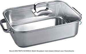 Bosch 573879, 00573879 HZ390011 Multi-Braadpan met Glazen Deksel voor Flexinductie verkrijgbaar bij Anka