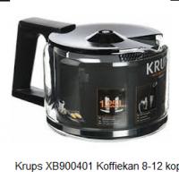 Krups XB900401 Koffiekan 8-12 kops, zwart