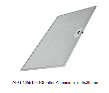 AEG 4055135349 Filter Aluminium, 506x300mm verkrijgbaar bij Anka