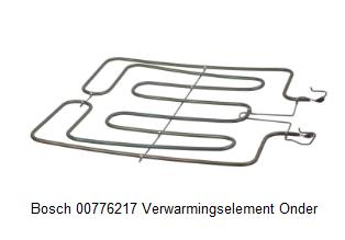 Bosch 776217, 00776217 Verwarmingselement Onder verkrijgbaar bij Anka
