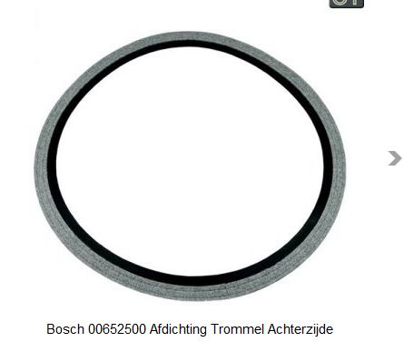 Bosch 652500, 00652500 Afdichting Trommel Achterzijde verkrijgbaar bij Anka