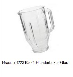 Braun 7322310584 Blenderbeker Glas verkrijgbaar bij Anka
