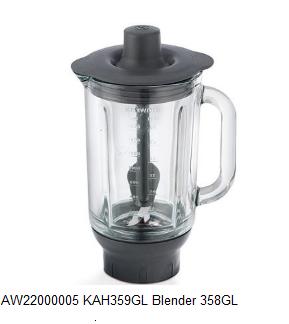 Kenwood AW22000005 KAH359GL Blender 358GL Glazen blender verkrijgbaar bij Anka