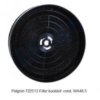 Pelgrim 722513 Filter koolstof -rond- WA48.5