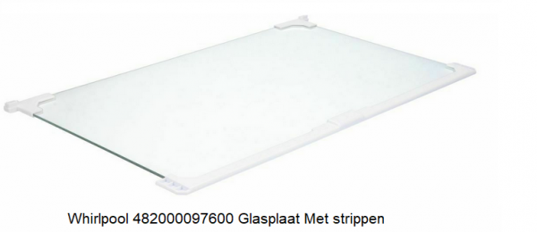 Whirlpool 482000097600 Glasplaat Koelkast verkrijgbaar bij Anka