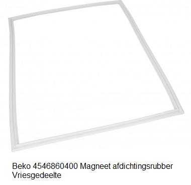 Beko 4546860400 Magneet afdichtingsrubber Vriesgedeelte verkrijgbaar bij ANKA