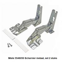 Miele 5546050 Scharnier metaal, set 2