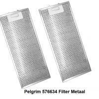 Pelgrim 576634 Filter Metaal vetfilter -2 stuks