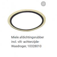 Miele 10328010 Afdichtingsrubber Wasdroger Incl. vilt -achterzijde