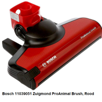 Bosch 11039051 Zuigmond ProAnimal Brush, Rood