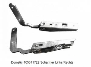 Dometic 105311722 Scharnier Links/Rechts verkrijgbaar bij Anka