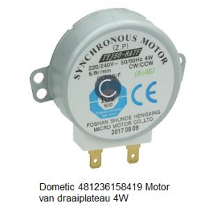 Dometic 481236158419 Motor Van draaiplateau 4W verkrijgbaar bij Anka