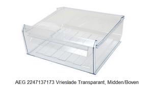 AEG 2247137173 Vrieslade Transparant, Midden/Boven verkrijgbaar bij Anka
