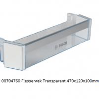 Bosch 00704760 Flessenrek Transparant 470x120x100mm