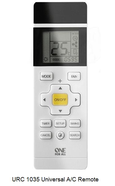 One For All URC 1035 Universal A/C Remote verkrijgbaar bij Anka