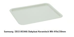 Samsung DE63-00344A Bakplaat Keramisch Wit 410x330mm